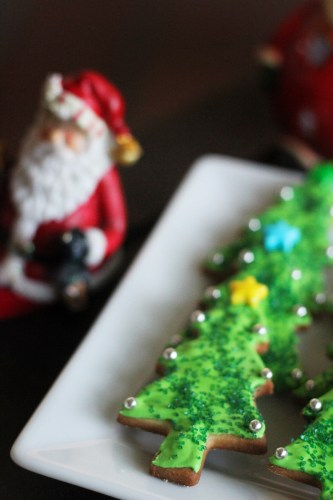 A plate of Christmas Trees