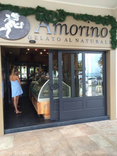 The gelato store is at Lemon Bay and part of a beautiful strip of restaurants, cafes and shops