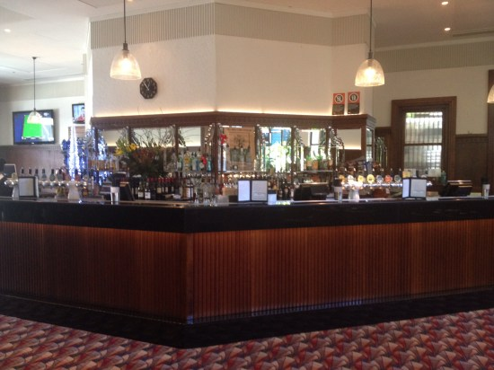 One of the bars at The Oaks