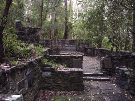 The outdoor chapel built by the homeless during the depression