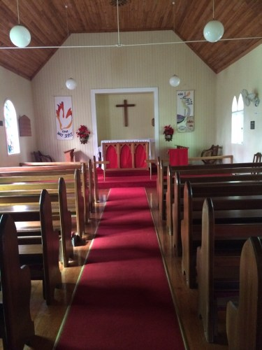 Inside St Mary's Anglican Church