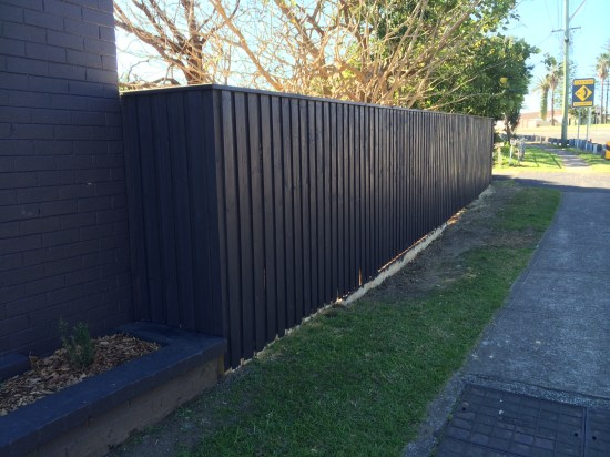A new front fence that I painted and now I just need to do some planting in front of it