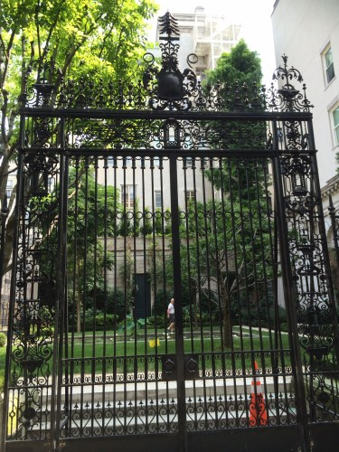 The gates on 70th Street