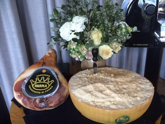 Authentic prosciutto and parmigiano