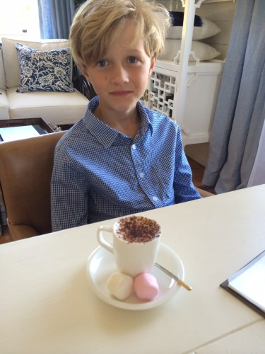 Babychino - complimentary with a kids' meal