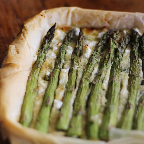 An asparagus and potato tart