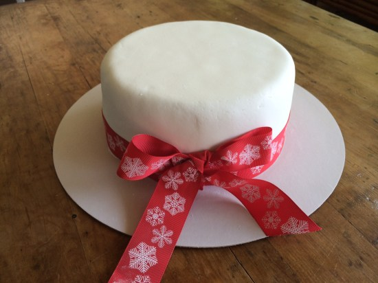 My first finished Christmas Cake for this season