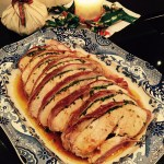 Prosciutto Wrapped Turkey Breasts in Herb Butter