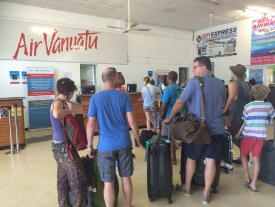 Queuing at Port Vila Domestic Terminal