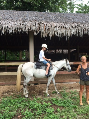 Saddling up at Santo Horse Adventures