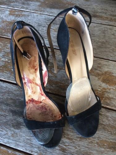 Beautiful but damaged shoes