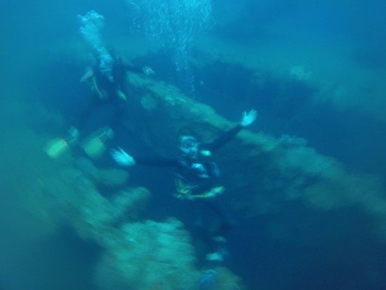 20 metres down