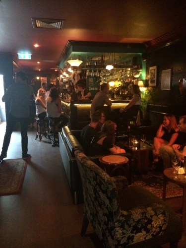 A very British-looking bar