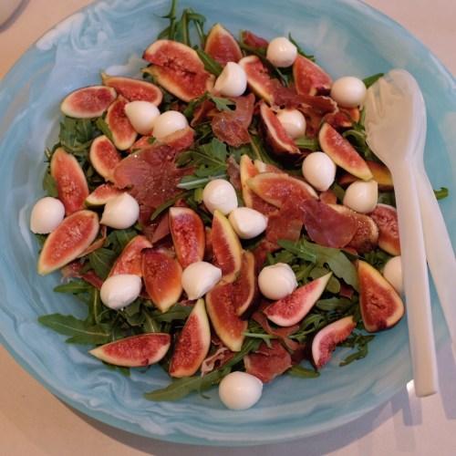 Fig, Prosciutto and Boccinini Salad