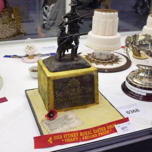 A cake to honour the ANZACs