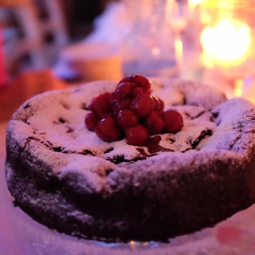 Dark Chocolate and Sour Cherry Cake