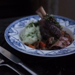 Red Wine Lamb Shanks with Parsley Mash
