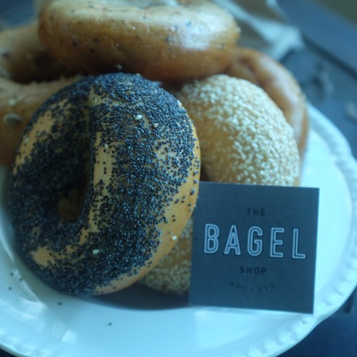 A variety of bagels