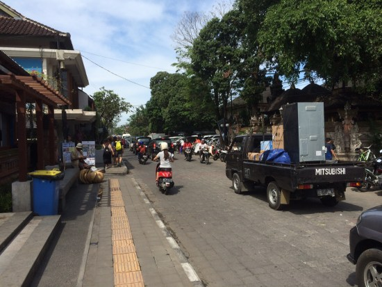 A typical street in Seminyak