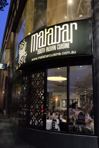 Malabar, a restaurant specialising in the cuisine of South India