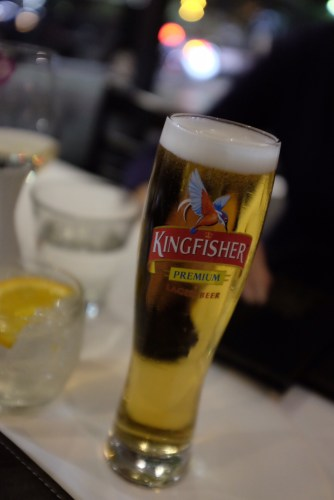 Kingfisher Beer from India: $9.00