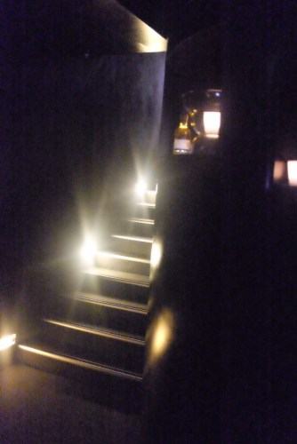 Walk down the stairs to Magazin