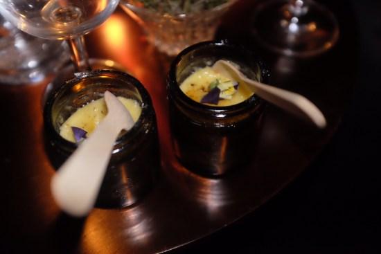 Little pots of creme brulee