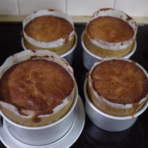 Four Christmas cakes