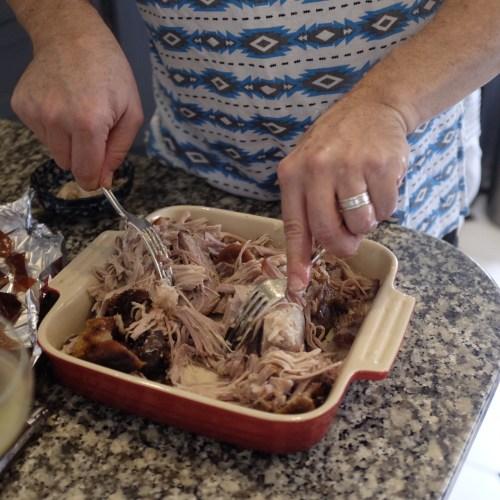 Pulled pork served with slaw