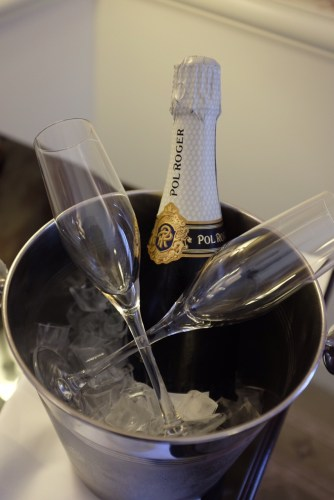 Champagne on ice