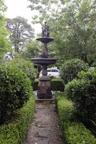 Garden at the entrance