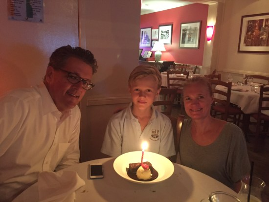 The little guy has a birthday and I'm so tired we celebrate in a restaurant