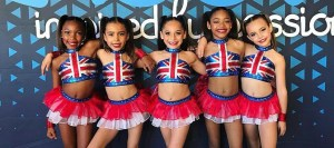 Union Jack Custom Dance Costume bases 2 piece for a small group