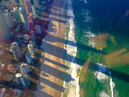 helicopter view australia gold coast beach