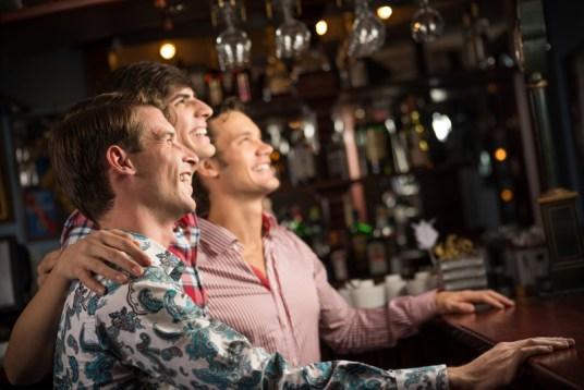 Australian men watching sports