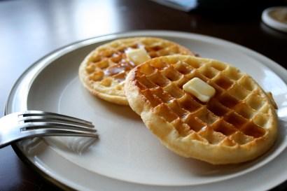 Eggo waffles butter syrup