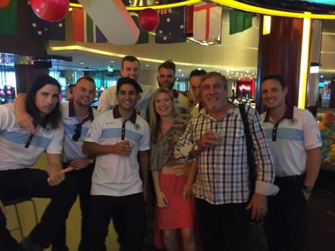 Sydney Soccer Team at the fun Star Casino in Sydney Australia