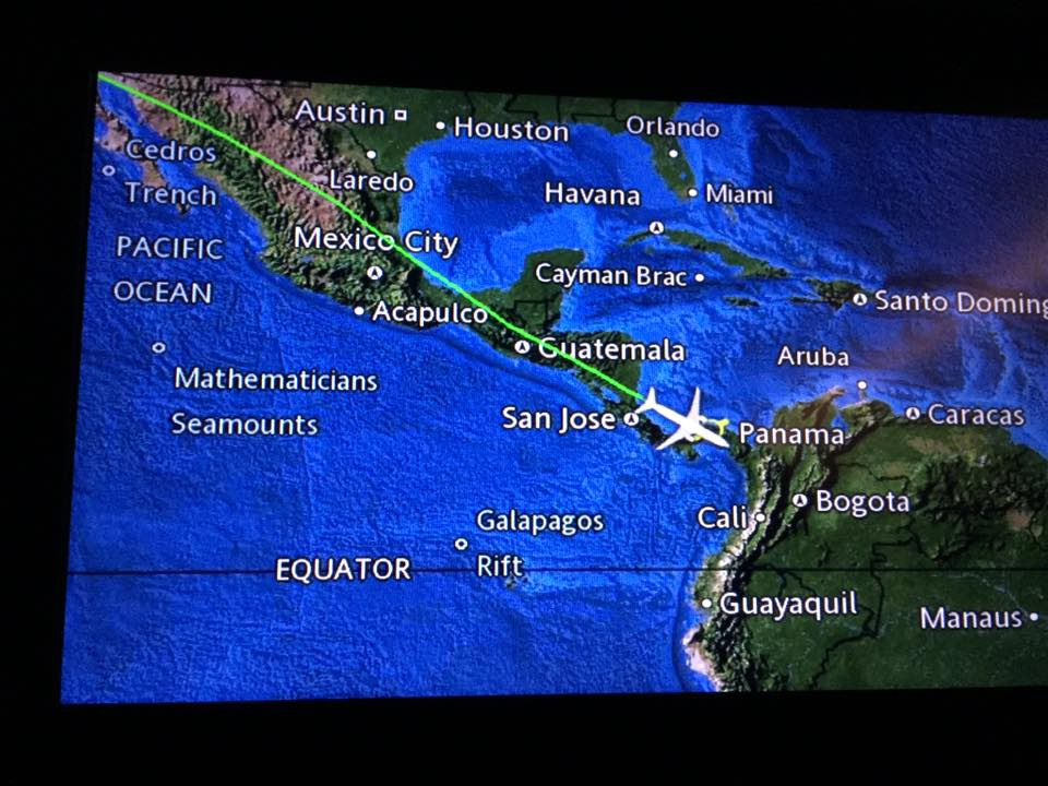 Flight Map Los Angeles To Panama