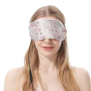 aroma season eye mask, silk eye mask with flowers, girl with eyemask