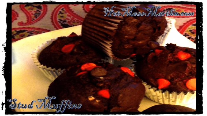 Chocolate + Cherries + Stout = Stud Muffins