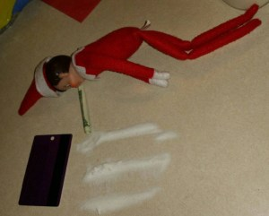 Elf on the Shelf, Elf behaving badly