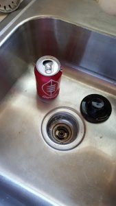 can in the sink....nice