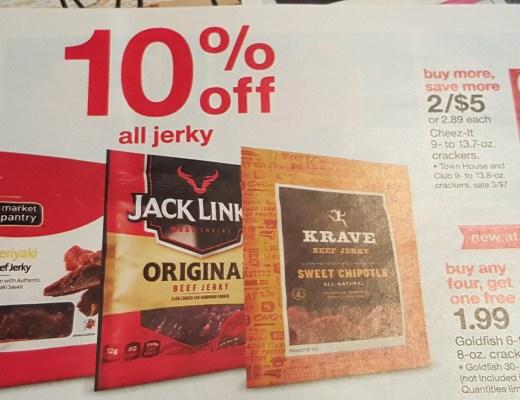 Target's beef jerky add