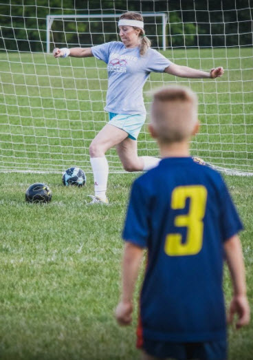C and Me Playing Soccer