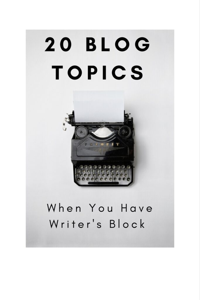 20 Blog Topics