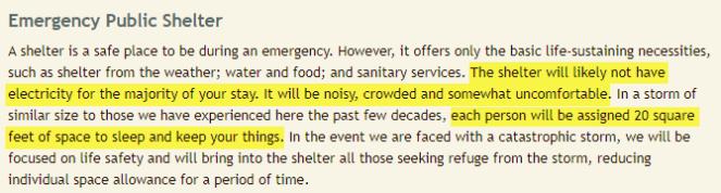 Shelter Info
