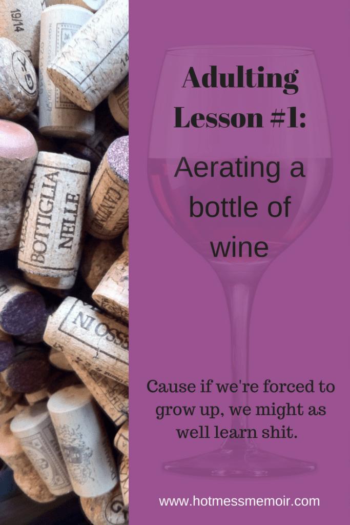 aerating wine