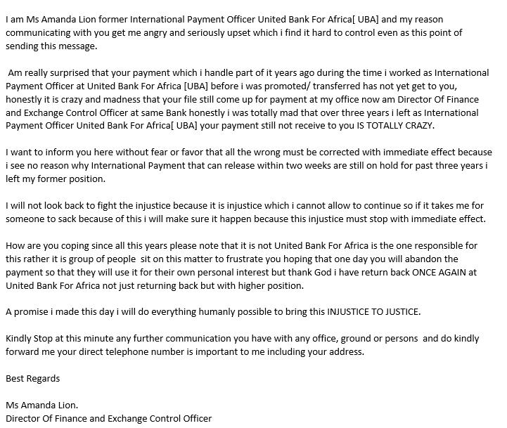 spam letter 1