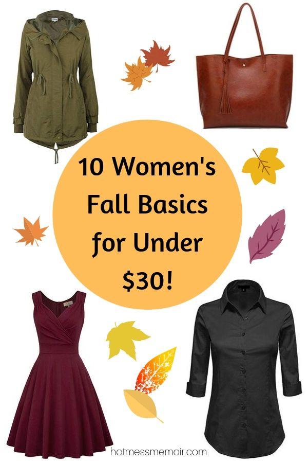 women's fall basics