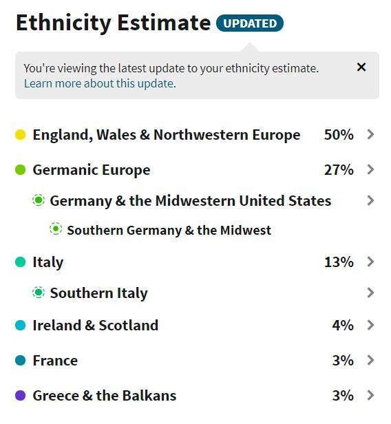 ancestry results now